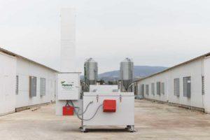 vista frontal de la maquina incineradora de animales Ipeca 500